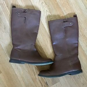 GAP Shoes - Gap girls long brown riding boots.